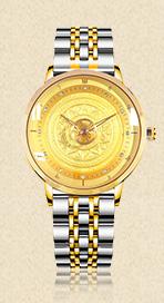 【祈福手表】黄财神新款钢带佛表